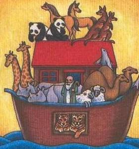 Het verzamelen van dieren in de ark